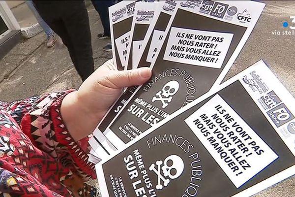 Ce lundi 13 mai, plusieurs représentants des syndicats des finances publiques sont allés à la rencontre des usagers au centre des impôts d'Ajaccio.