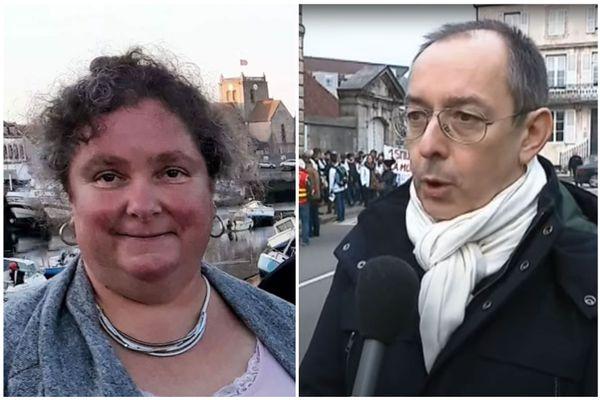 Le médecin Eric Loupiac et l'aide-soignante Patricia Boulak, tous les deux décédés de la Covid lors de l'exercice de leur métier
