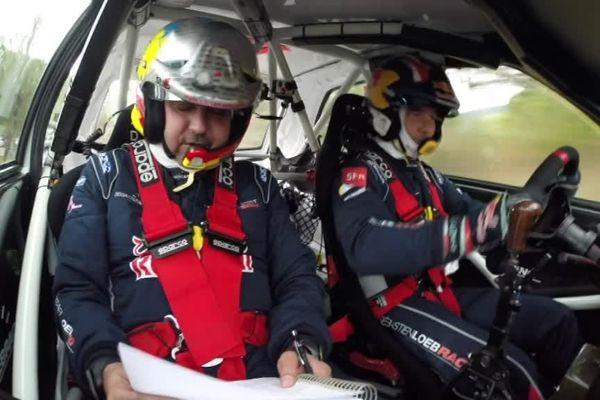 Les champions du monde Sébastien Loeb et Daniel Elena lors de l'édition 2017.