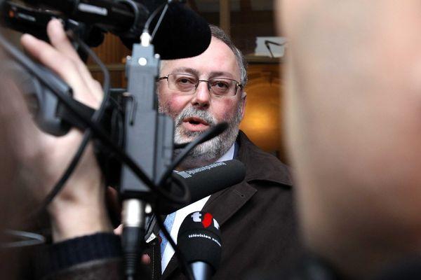 Didier Cappelle, lors de la liquidation judiciaire de SeaFrance par le tribunal de commerce de Paris, en janvier 2012
