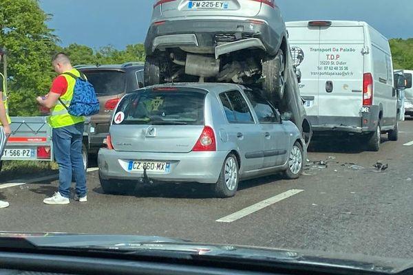 Accident N 157 à Cesson Sevigne en direction du Mans