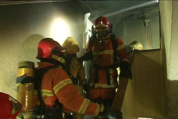 Les pompiers de Vendée en exercice de lutte contre les incendies.