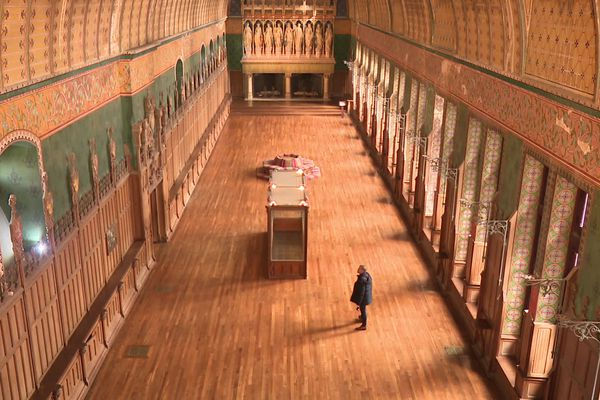 La salle des Preuses du château de Pierrefonds va bénéficier pendant 18 mois d'importants travaux de restauration à partir de la fin de l'année 2021.