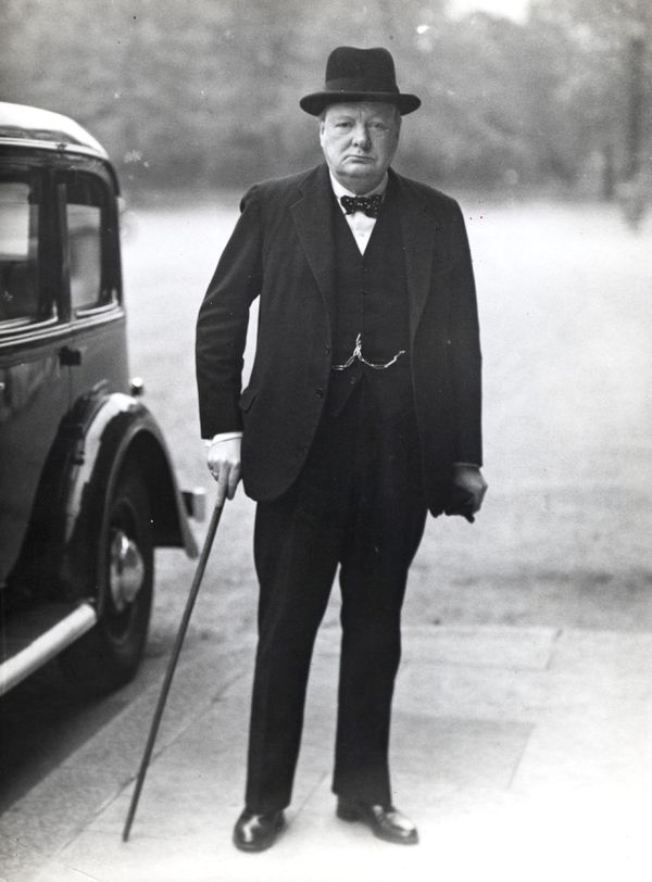 Winston Churchill à Londres le 10 mai 1940.