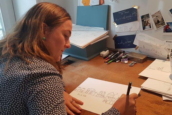 Anne-Lise Duriez dans son atelier
