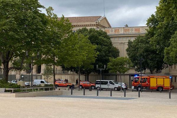 Nîmes - Le périmètre du TGI a été bouclé - 12.06.20