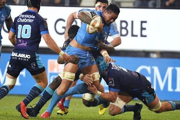 Le rugby est-il un sport trop dangereux ? Sur cette photographie, le MHR rencontrait Grenoble, au Stade des Alpes, le 22 décembre 2018.