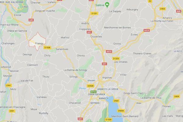La commune de Frangy, à 30 kilomètres d'Annecy