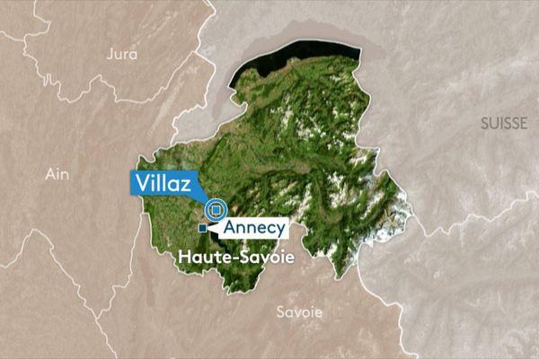 L'accident s'est produit le mercredi 27 juin 2018 à Villaz, en Haute-Savoie