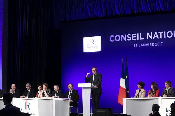 Le Conseil national des Républicains, le 14 janvier 2017 à Paris.