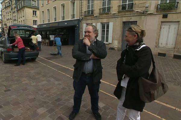 Mathias Enard, invité carte blanche, vient d'arriver à Caen pour le salon littéraire Époque.