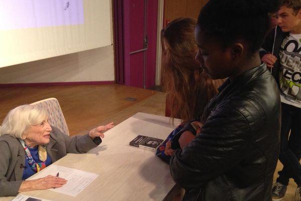 Marthe Cohn au lycée De La Salle lundi 17 octobre à Metz