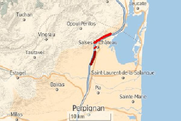 A9 coupée entre Narbonne et Perpignan après l'accident d'un poids lourd