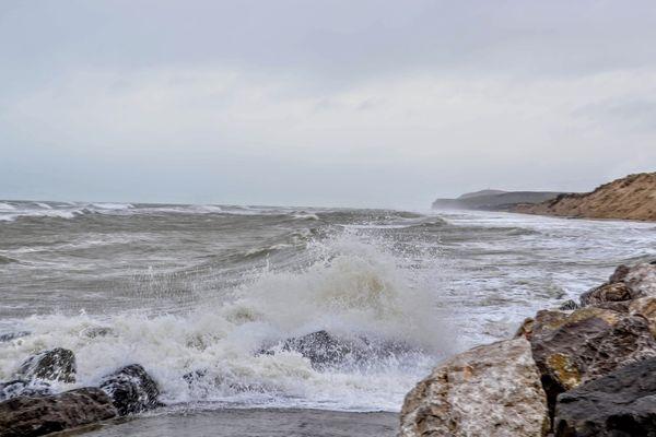 Image d'illustration des grandes marées à Wissant en février 2020.