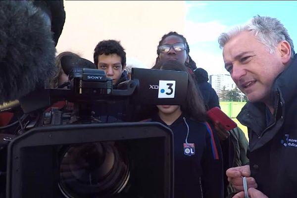 Semaine de la presse à l'école : les collégiens avec Frédéric Llop