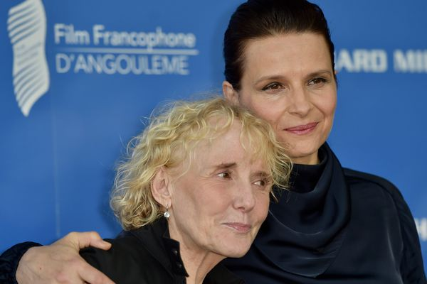 Juliette Binoche et Claire Denis au 10ème Festival du Film Francophone d'Angoulême.