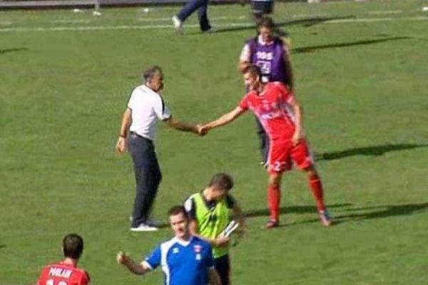 Nîmes - les Gardois ont battu Caen 2 buts à 1 - 5 octobre 2013.