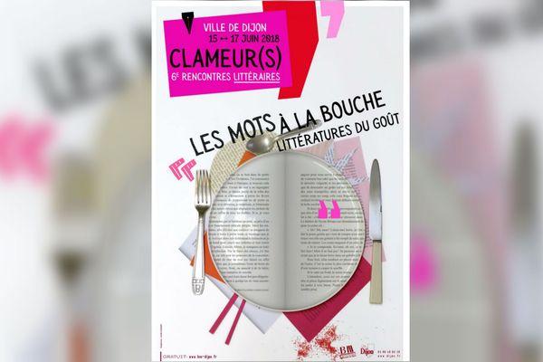 L'affiche des rencontres littéraires Clameur(s) 2018.