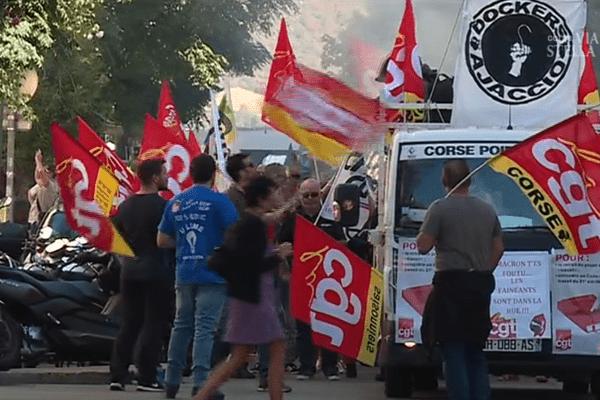 La CGT a mobilisé des centaines de manifestants ce jeudi à Ajaccio