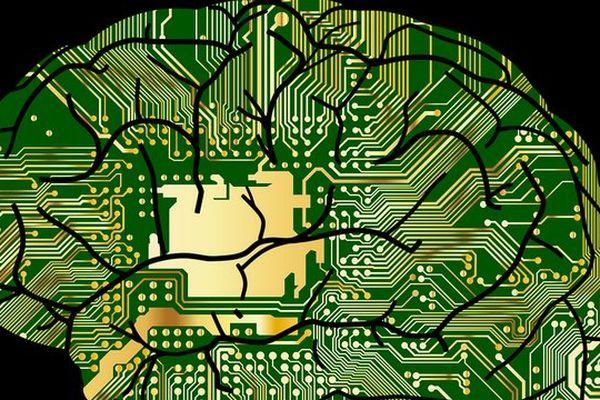 Illustration du concept de cerveau electronique