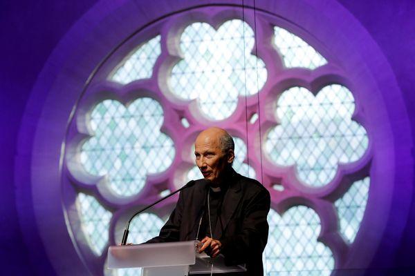 Monseigneur d'Ornellas lors d'une conférence sur la bioéthique à Paris en 2019