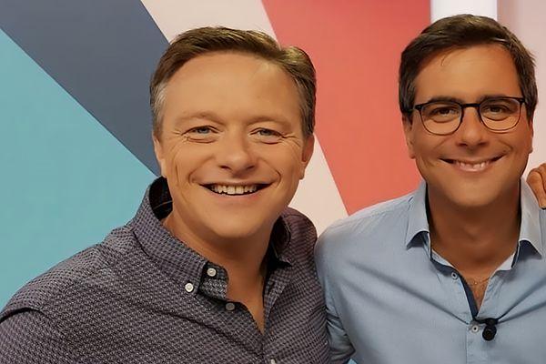 Jérôme Jean et Thibaut Rysman sur le plateau de l'émission 9h50 le matin
