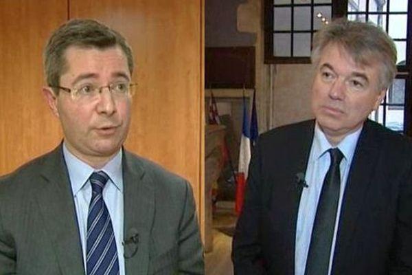 Emmanuel Bichot, maire de Saint-Romain (G) et Alain Houpert, sénateur de Côte d'Or (D)