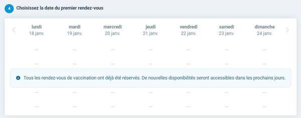 Au CHU de Rouen, impossible de trouver un créneau libre dans l'un des deux centres de vaccination.