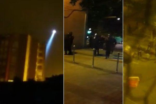 Les riverains ont filmé les tensions de la nuit dans leur quartier.