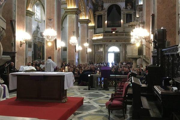 19/09/17 - Recueillement à la cathédrale Sainte Marie de Bastia pour les obsèques de Jacky Micaelli
