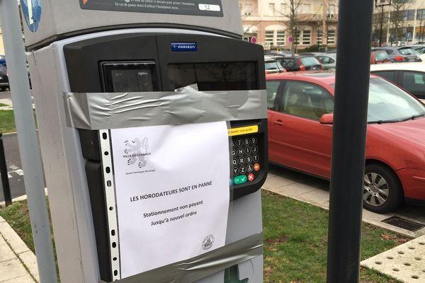 Bug informatique des horodateurs à Forbach depuis le 7 janvier 2019. La municipalité décide de rendre le stationnement gratuit en attendant les réparations.