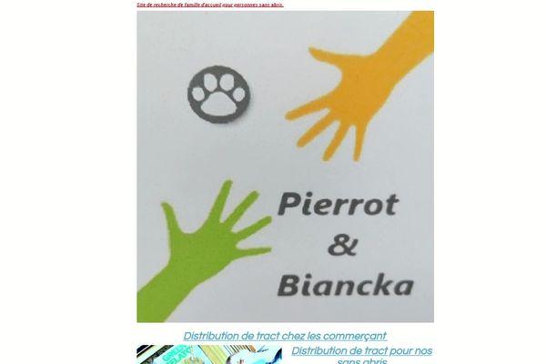 Site Pierrot & Biancka pour mettre en relation propriétaires et Sans-abris : comme deux mains tendues qui se rejoignent.