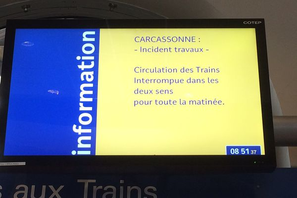 Trafic ferroviaire perturbé sur la ligne Toulouse - Montpellier - 7 mars 2017