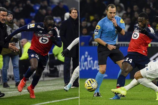 Jonathan Ikoné et Jonathan Bamba contre Lyon mardi en demi-finale de la Coupe de la Ligue.
