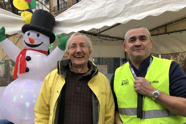 José Miclet et Claude Fouillet, deux bénévoles du Téléthon de longue date, sont devenus des amis.