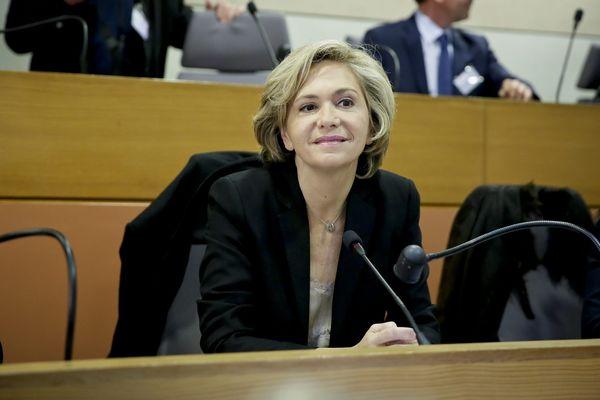 Valérie Pécresse, lors de la séance inaugurale du conseil régional d'Île-de-France, le 18 décembre 2015.