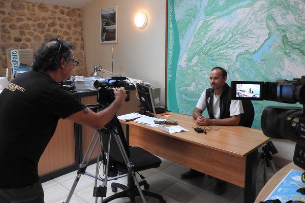 Séquence interview pendant le tournage du film