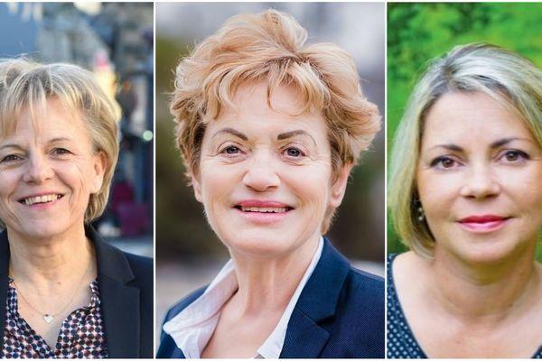 Christine Le Strat (à gauche), Marie Madeleine Doré Lucas (au centre), Gaëlle Le Roch (à droite) seront sur notre plateau pour le débat du 2e tour