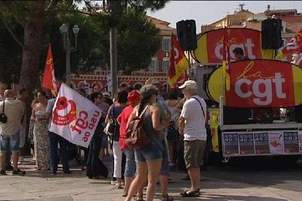 Manifestation à Nice ce mardi.