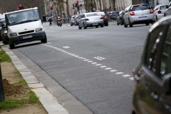 Des places de stationnement à Paris.