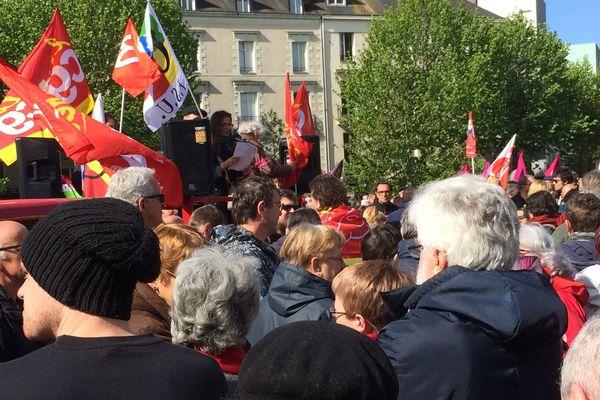 CGT, FO, FSU et Solidaires le 1er mai 2017 place de la République à Nantes