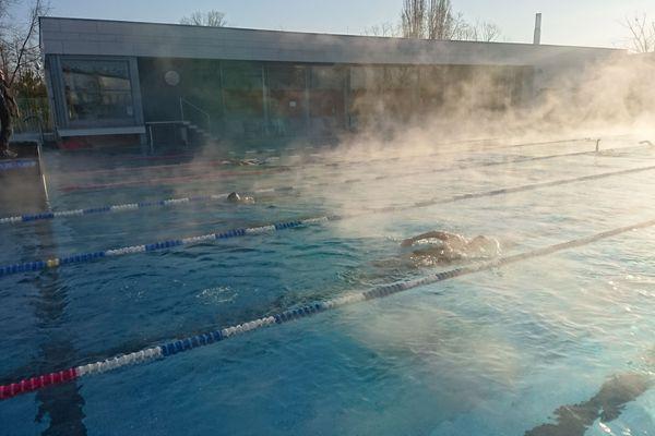 Un lundi matin de février 2018, à la piscine du Wacken.