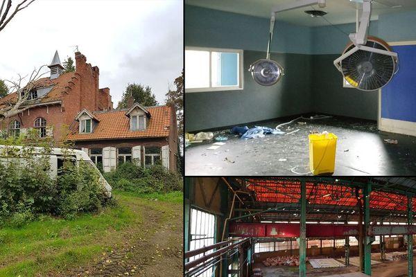 Trois lieux abandonnés dans le Nord ou le Pas-de-Calais