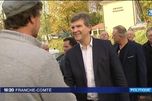 Arnaud Montebourg dans le Doubs, le lundi 24 octobre 2016