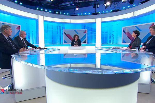 Les quatre représentants limousins des candidats PS sur le plateau de France 3