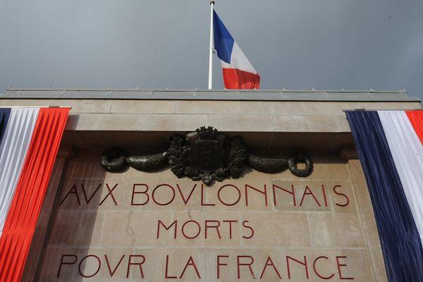 Monuments aux morts de 1914-1918 et 1939-1945 à Boulogne-sur-Mer.