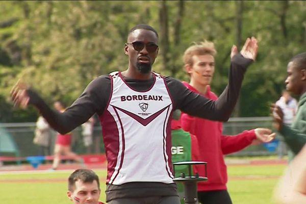 Parmi les athlètes présents, Teddy Tamgho, recordman du monde de triple saut en salle - mai 2019