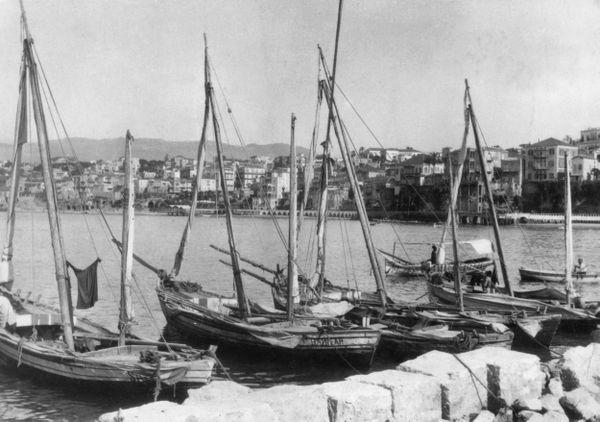 Le port de Beyrouth en 1939.