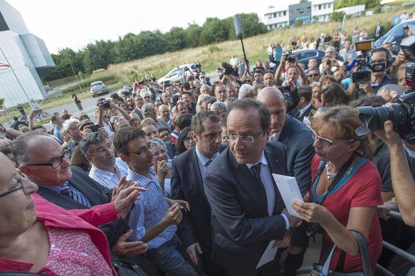 François Hollande lors de sa venue à la Roche-sur-Yon au début du mois d'août.