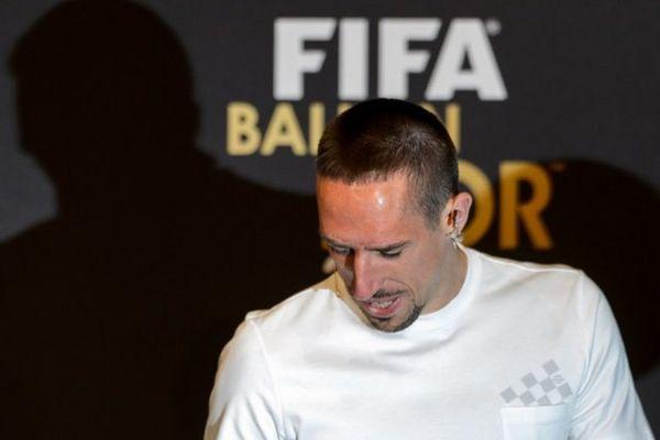 Franck Ribéry lors de la cérémonie le 13 janvier 2014 à Zurich